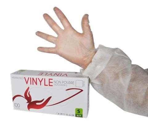 5bdfd501f4bf0 GANT VINYLE NON POUDRE L BTE 100/ISOGV308-L/ISOGV309-L gant d'examen vinyle  non poudré. Coloris : BLANC Texture non glissante, paume traitée. Surface  lisse